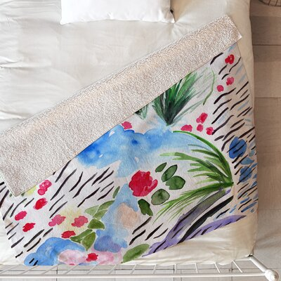 Days of Wind and Roses Blanket Size: 80 L x 60 W