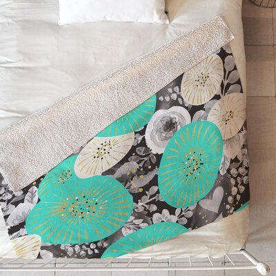 Galaxy of Flowers Blanket Size: 60 L x 50 W