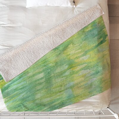 Watercolor Blanket Size: 60 L x 50 W