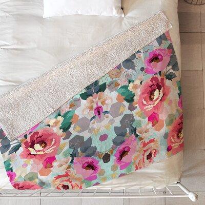Marta Barragan Camarasa Abstract Geometrical Flowers Blanket Size: 60 L x 50 W