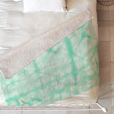 Tie Dye 2 Blanket Size: 80 L x 60 W, Color: Mint