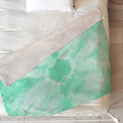 Tie Dye Blanket Size: 80 L x 60 W, Color: Mint