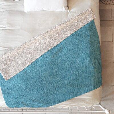 Linen Blanket Size: 60 L x 50 W, Color: Blue