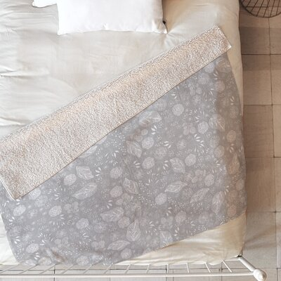 Iveta Abolina Crystalline Water Blanket Size: 80 L x 60 W, Color: Gray