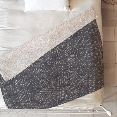 Marrakeshi Blanket Size: 80 L x 60 W, Color: Gray