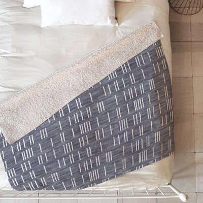 Bogo Mudcloth Blanket Size: 60 L x 50 W, Color: Gray