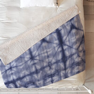 Tie Dye 2 Blanket Size: 60 L x 50 W, Color: Navy