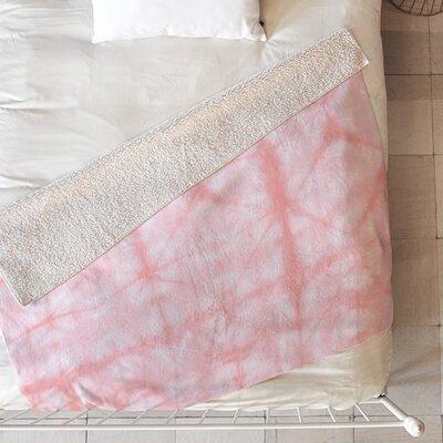Tie Dye 2 Blanket Size: 80 L x 60 W, Color: Pink