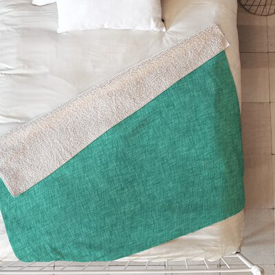 Linen Blanket Size: 60 L x 50 W, Color: Green