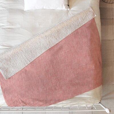 Linen Blanket Size: 60 L x 50 W, Color: Pink