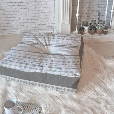Floor Pillow Size: 23 H x 23 W x 7 D