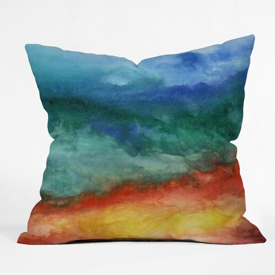Jacqueline Maldonado Leaving California Throw Pillow Size: 16 H x 16 W