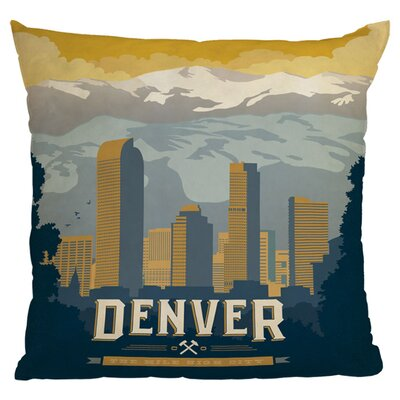 Anderson Design Group Denver Throw Pillow Size: 18 x 18