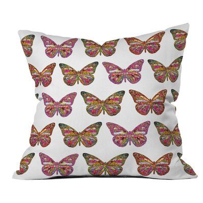 Bianca Butterflies Fly Outdoor Throw Pillow