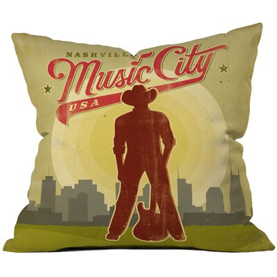 Anderson Design Group Music City Throw Pillow Size: 20 x 20