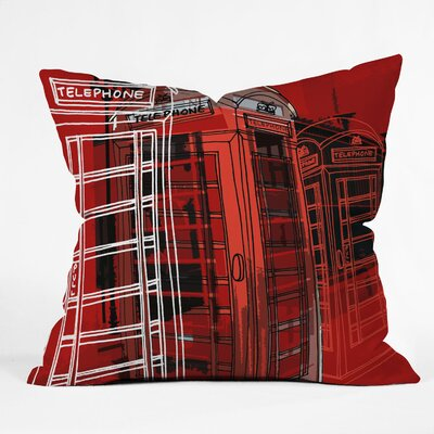 Aimee St Hill Phone Box Throw Pillow Size: Large
