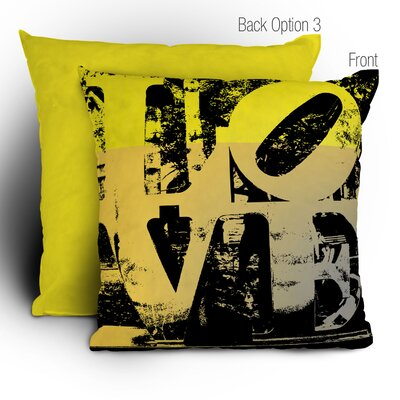 Amy Smith Philadelphia Love Throw Pillow Size: Large