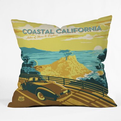 Anderson Design Group Coastal California Throw Pillow Size: 18 H x 18 W
