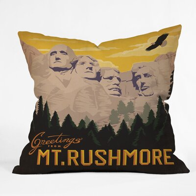 Anderson Design Group Mount Rushmore Throw Pillow Size: 16 x 16