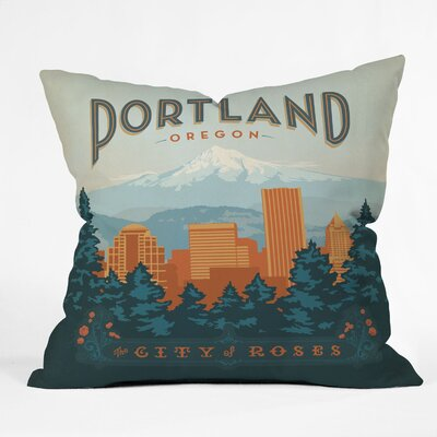 Anderson Design Group Portland Throw Pillow Size: 16 x 16