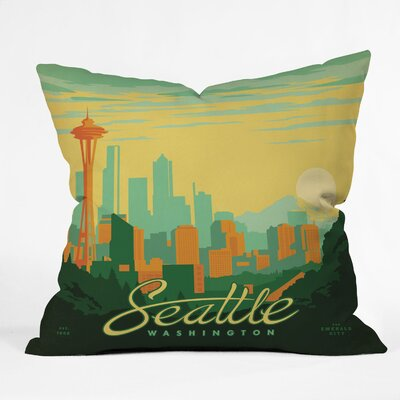 Anderson Design Group Seattle Throw Pillow Size: 16 x 16