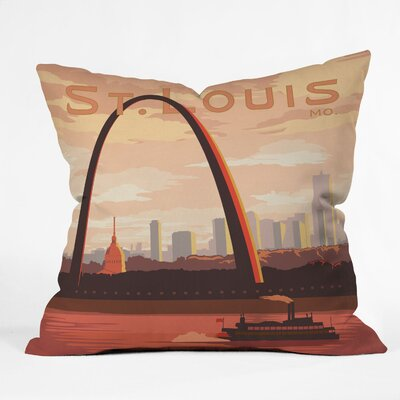 Anderson Design Group Saint Louis Throw Pillow Size: 16 x 16