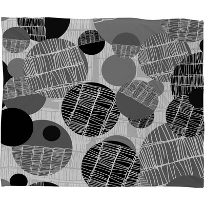 Rachael Taylor Textured Geo Throw Blanket Size: Small, Color: Gray Black Textured Geo
