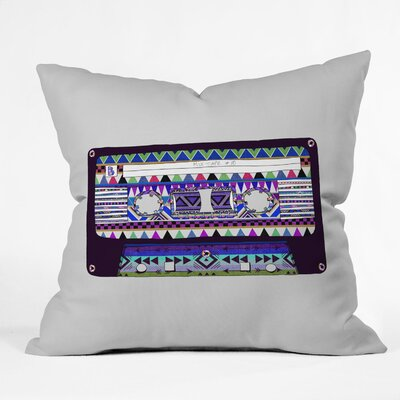 Bianca Green Mix Tape No 10 Throw Pillow Size: 16 x 16