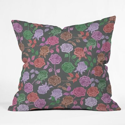 Bianca Green Throw Pillow Size: 16 x 16, Color: Vintage Roses