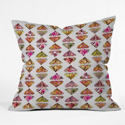 Bianca Green These Diamonds Are Forever Throw Pillow Size: 18 x 18