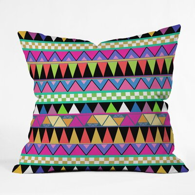 Bianca Green Zigzag Throw Pillow Size: 16 x 16