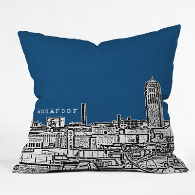 Bird Ave Ann Arbor Throw Pillow Size: 18 x 18, Color: Navy