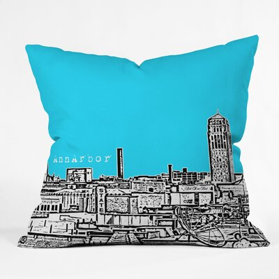 Bird Ave Ann Arbor Throw Pillow Color: Sky, Size: 16 x 16