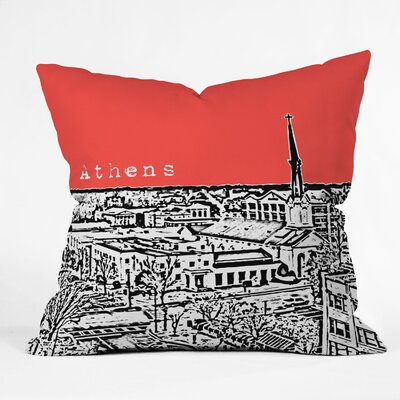 Bird Ave Athens Throw Pillow Size: 18 x 18, Color: Red