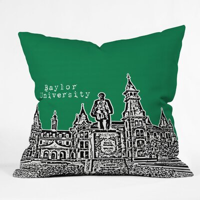 Bird Ave University Indoor/Outdoor Throw Pillow Size: 20 W, University: Baylor University