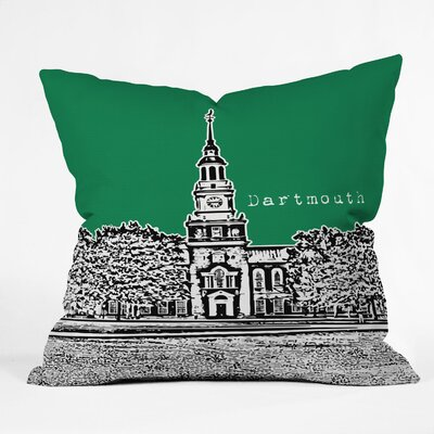 Bird Ave University Indoor/Outdoor Throw Pillow Size: 20 W, University: Dartmouth College