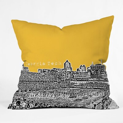 Bird Ave University Indoor/Outdoor Throw Pillow Size: 18 W, University: Georgia Tech