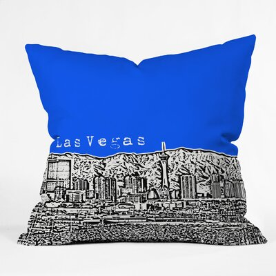 Bird Ave Las Vegas Throw Pillow Size: 18 x 18, Color: Royal
