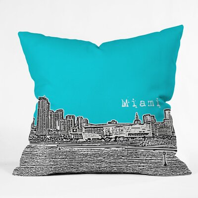 Bird Ave Miami Throw Pillow Size: 18 x 18, Color: Teal