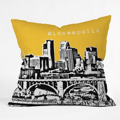 Bird Ave Minneapolis Throw Pillow Size: 16 x 16, Color: Yellow