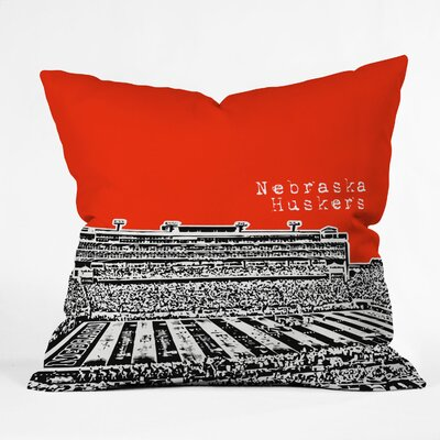 Bird Ave University Indoor/Outdoor Throw Pillow Size: 20 W, University: Nebraska Huskers