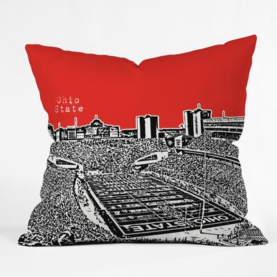Bird Ave University Indoor/Outdoor Throw Pillow Size: 18 W, University: Ohio State Buckeyes