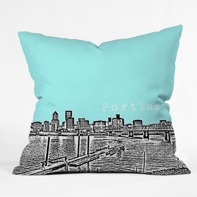 Bird Ave Portland Throw Pillow Size: 18 x 18, Color: Ice