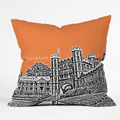 Bird Ave University Indoor/Outdoor Throw Pillow Size: 18 W, University: Princeton University