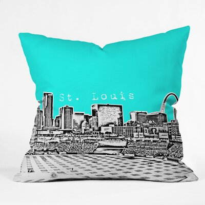 Bird Ave St Louis Throw Pillow Size: 20 x 20, Color: Aqua