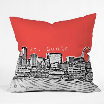 Bird Ave St Louis Throw Pillow Size: 16 x 16, Color: Red