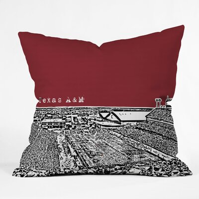 Bird Ave University Indoor/Outdoor Throw Pillow Size: 20 W, University: Texas A and M
