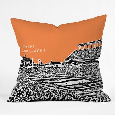 Bird Ave University Indoor/Outdoor Throw Pillow Size: 20 W, University: Texas Longhorns