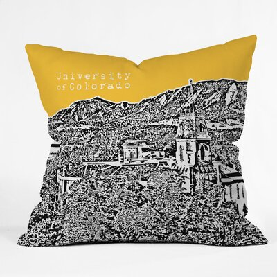 Bird Ave University Indoor/Outdoor Throw Pillow Size: 18 W, University: University Of Colorado