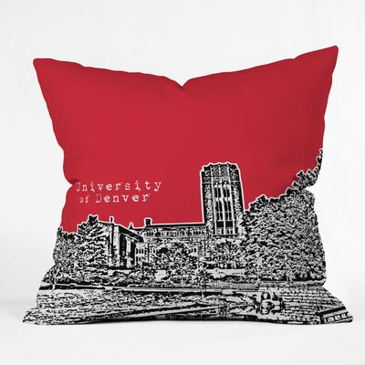 Bird Ave University Indoor/Outdoor Throw Pillow Size: 18 W, University: University Of Denver